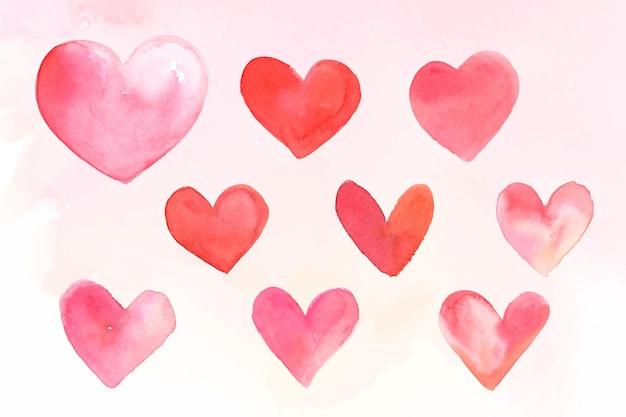 ピンクのハートコレクションベクトルバレンタインデー版