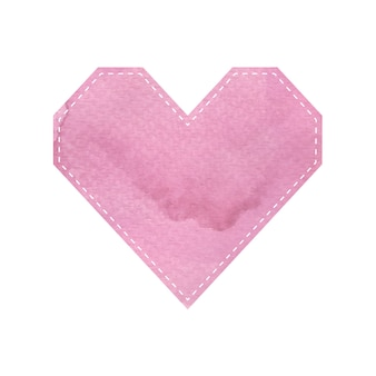 Pink heart pattern shapes on white background