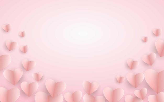 Розовый фон сердца