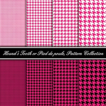Pink hound's tooth pattern collection