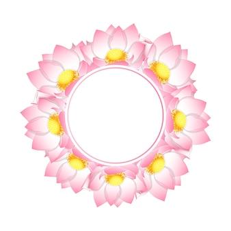 ピンクのインドの蓮のバナーの花輪
