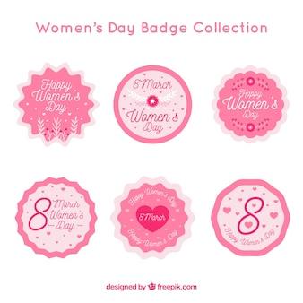 Розовая коллекция этикеток для женщин Бесплатные векторы