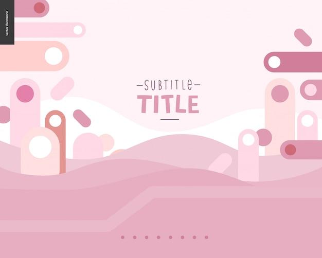 Pink landscape template design mockup vector banner or slider