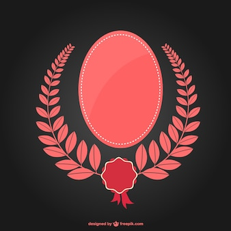 Pink laurel wreath and frame