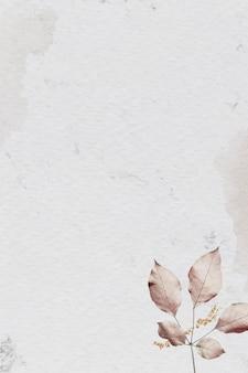 Розовый узор листьев на мраморном текстурированном фоне