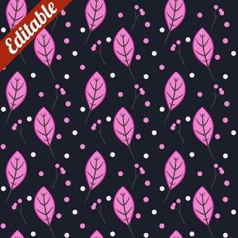 Pink leaf white snow pattern