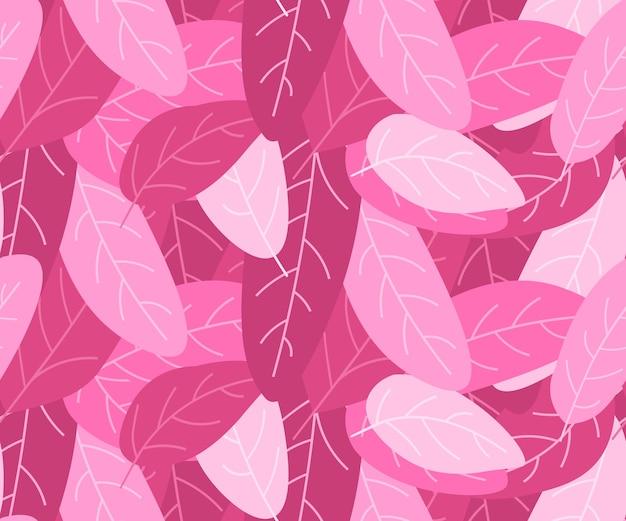 ピンクの葉の背景、世界がんの日乳房疾患意識防止の概念