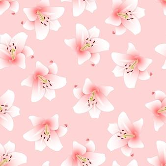Розовая лилия на светло-розовом фоне