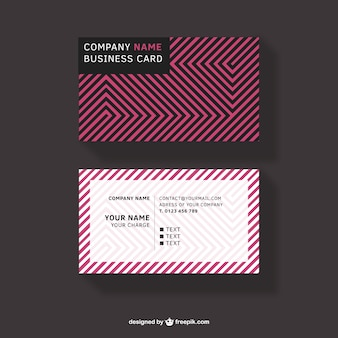 Pink lines business card