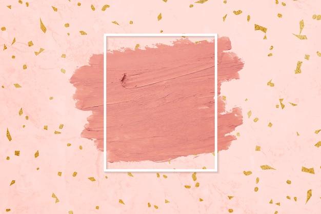 Pink lipstick smudge