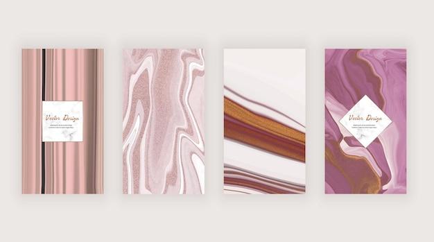 Текстура розовых жидких чернил для социальных сетей