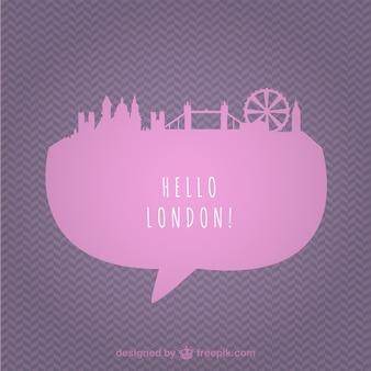 Pink london cityscape