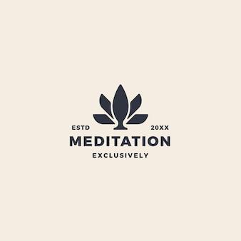 Логотип розового лотоса для медитации, красоты, фитнеса и йоги