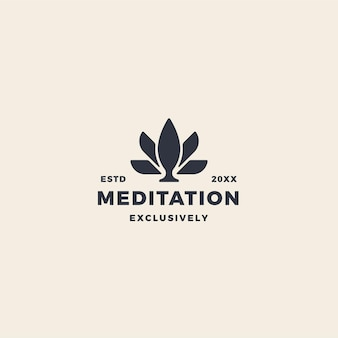 Pink lotus flower logo for meditation, beauty, fitness and yoga