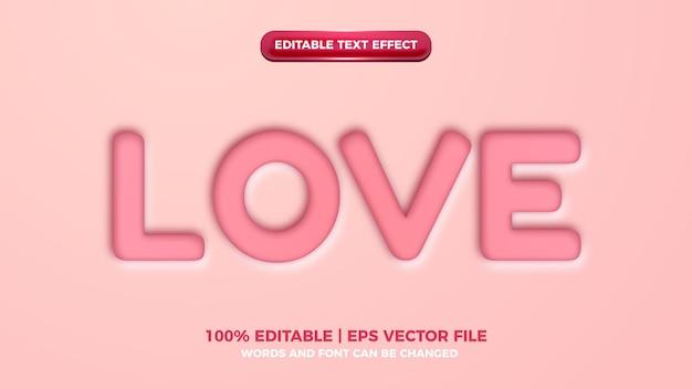 Эффект стиля текста розового любовного выреза редактируемый