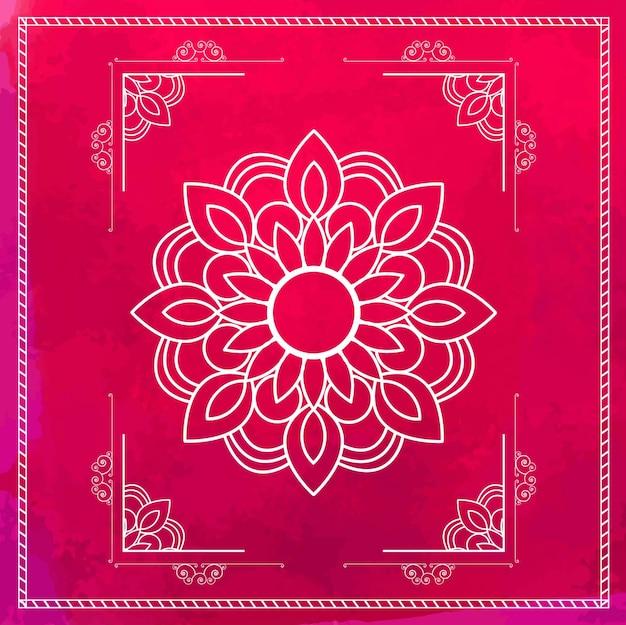 핑크 만다라 프레임 디자인