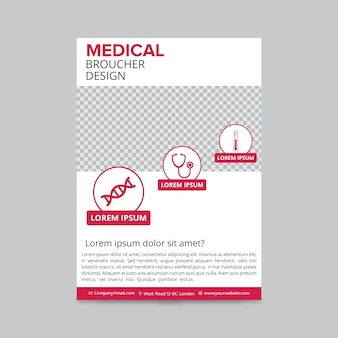 Pink medical brochure