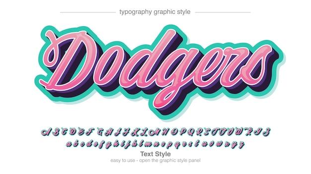 분홍색 현대 서예 고립 된 편지