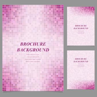 Sfondo rosa mosaico brochure