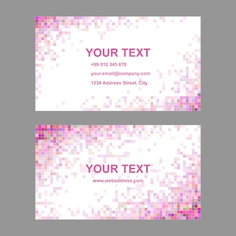 Pink mosaic business card design