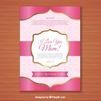 Pink mother's day card
