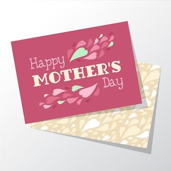 핑크 어머니의 날 인사말 카드