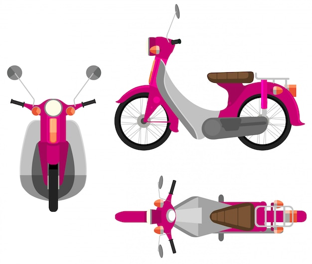 A pink motor vehicle Free Vector