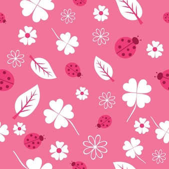 Pink nature pattern design