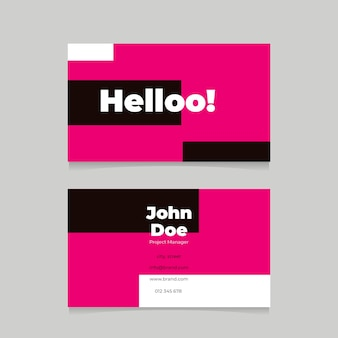 Pink neon business cards