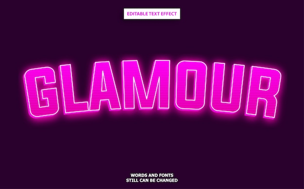 Pink neon text effect