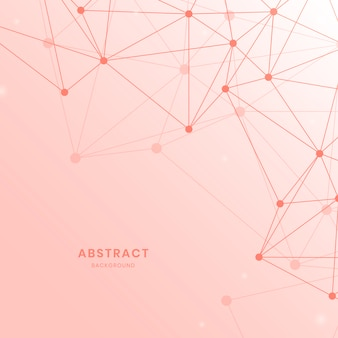 Pink neural network illustration