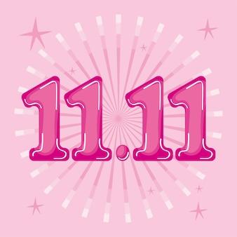 ピンクの数字のイラスト