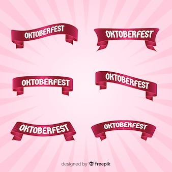 Pink oktoberfest ribbon collection