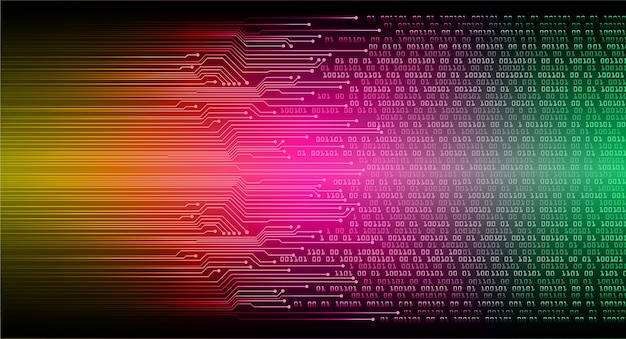 Pink orange green cyber circuit future technology concept background