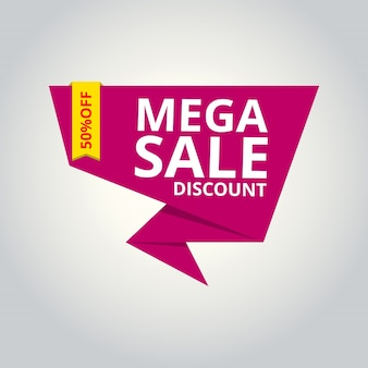 Pink origami sales banner