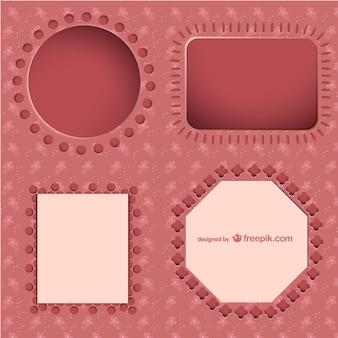 핑크 장식 프레임