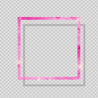 Розовая краска блестящая текстурированная рамка на прозрачном фоне. векторная иллюстрация eps10