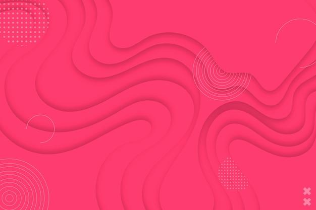 분홍색 종이 스타일 물결 모양 배경