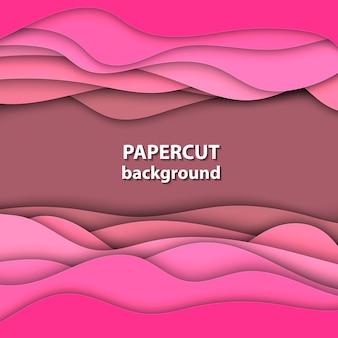 Розовый фон papercut
