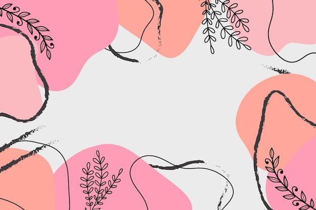ピンクのパステル抽象デスクトップ壁紙ベクトル