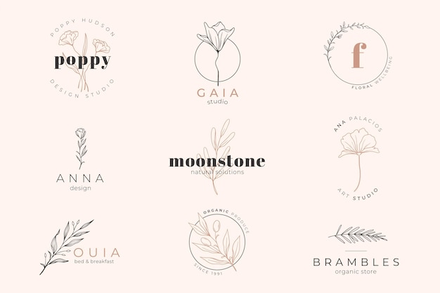 Pink pastel colored background and logo template