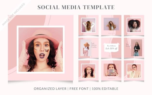 Шаблон сообщения о продаже в социальных сетях pink pastel fashion
