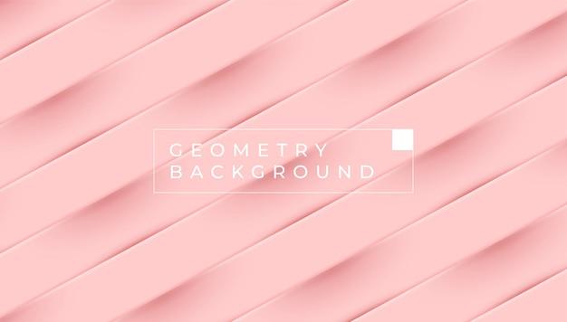 Розовый пастельный геометрический фон цветовой векторный дизайн