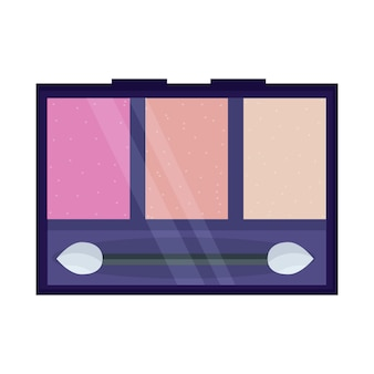 핑크 파스텔 색조의 아이 섀도우 얼굴 화장용 메이크업