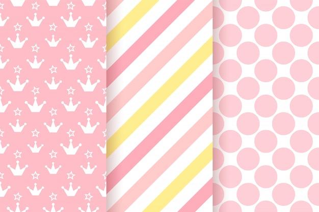 ピンクの模様。ベビーシャワーのシームレスパターン