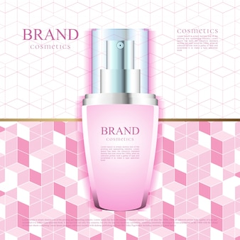 Pink pattern for cosmetics advertising