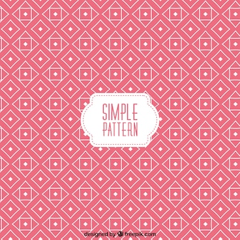 Pink pattern in geometric design