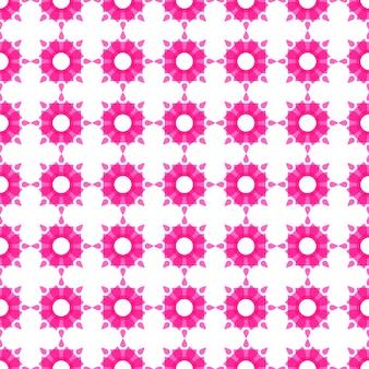 Pink pattern on white background