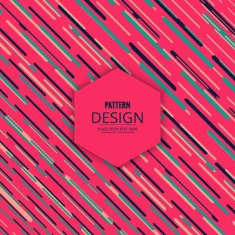 Coloresラインとピンクのパターン