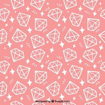 Pink pattern with flat diamonds